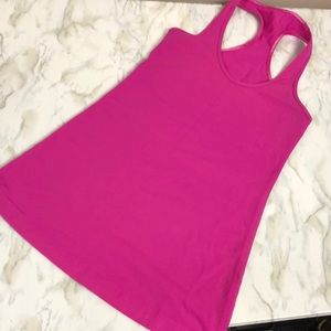 Lululemon race back hot pink tank top